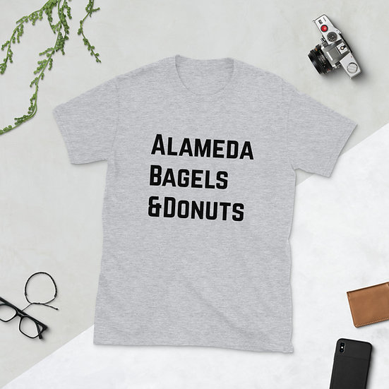 Short-Sleeve Unisex T-Shirt : alameda bagels and donuts