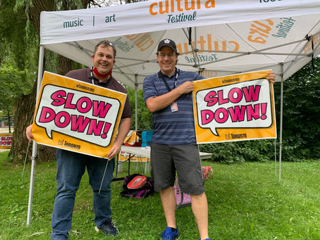 Slow Down Sign Giveaway