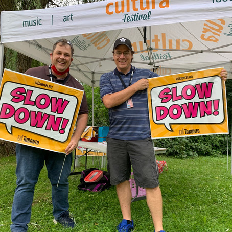 Slow Down Sign Giveaway at Goulding Park