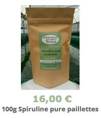 Spiruline pure en paillettes -100g