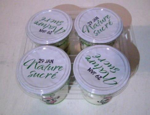 Yaourt au lait entier - Nature Sucré (4 pots)