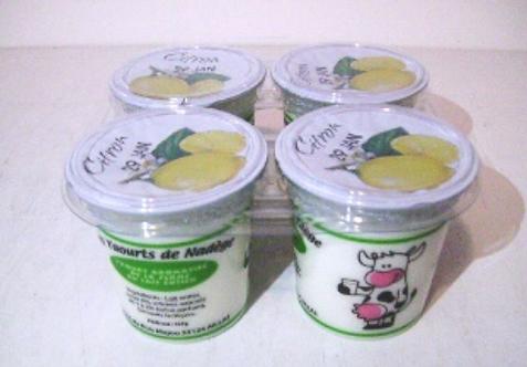 Yaourt au lait entier - Citron (4 pots)