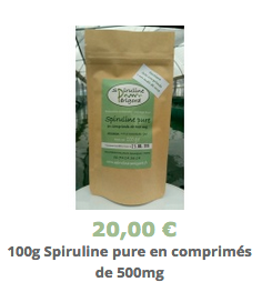Spiruline pure en comprimés -100g