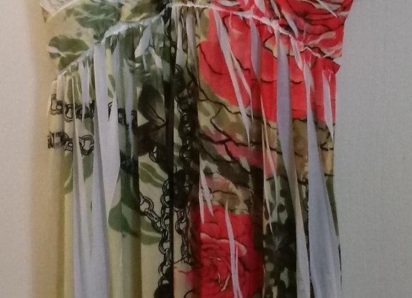 Split Print Dress (4X)