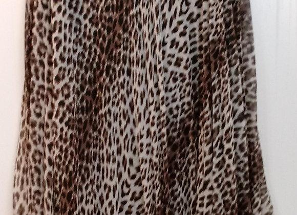 Leopard Pleated Skirt (M)
