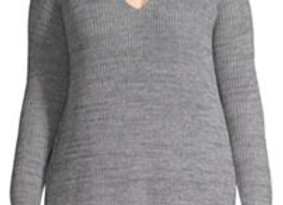 V Neck Pullover Sweater (2X & 3X)