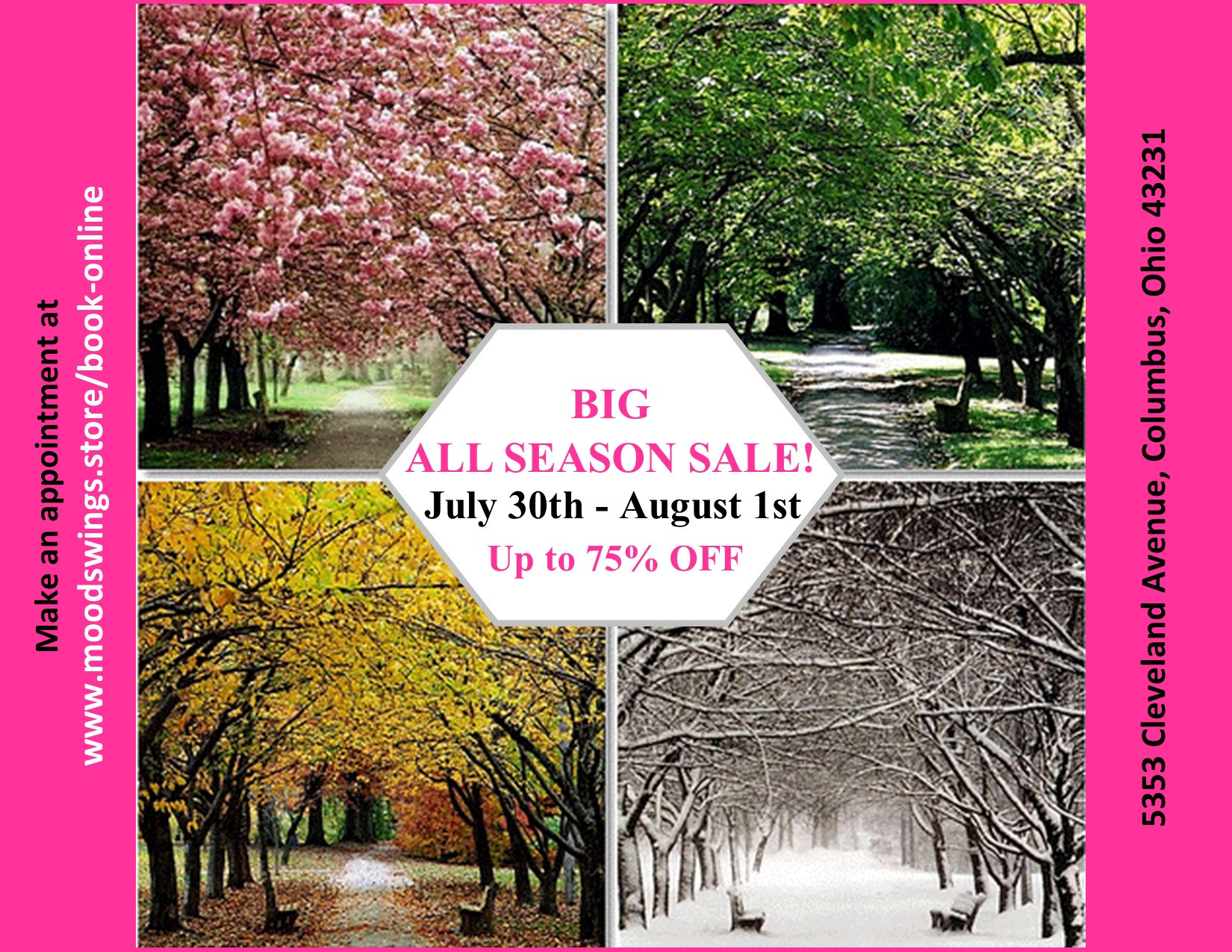 BIG ALL SEASON SALE APPOINTMENT