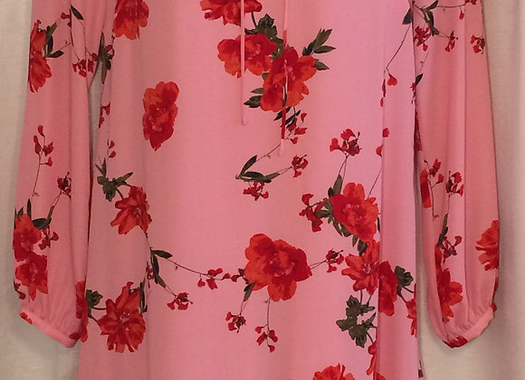 Pink Dress with Red Roses (M)