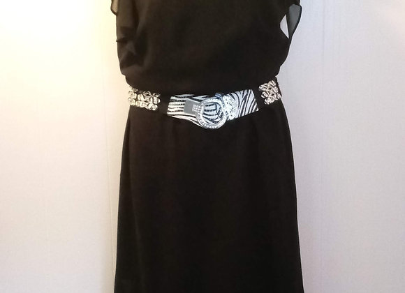 Black Dresses with Belt