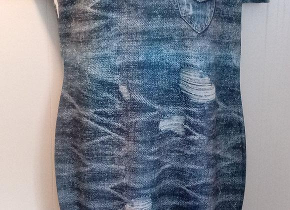 Faux Denim Dress (2X)