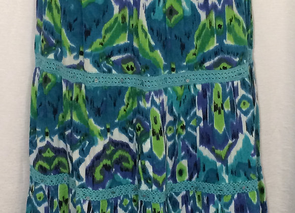 Long Tie Dye Skirt (L)
