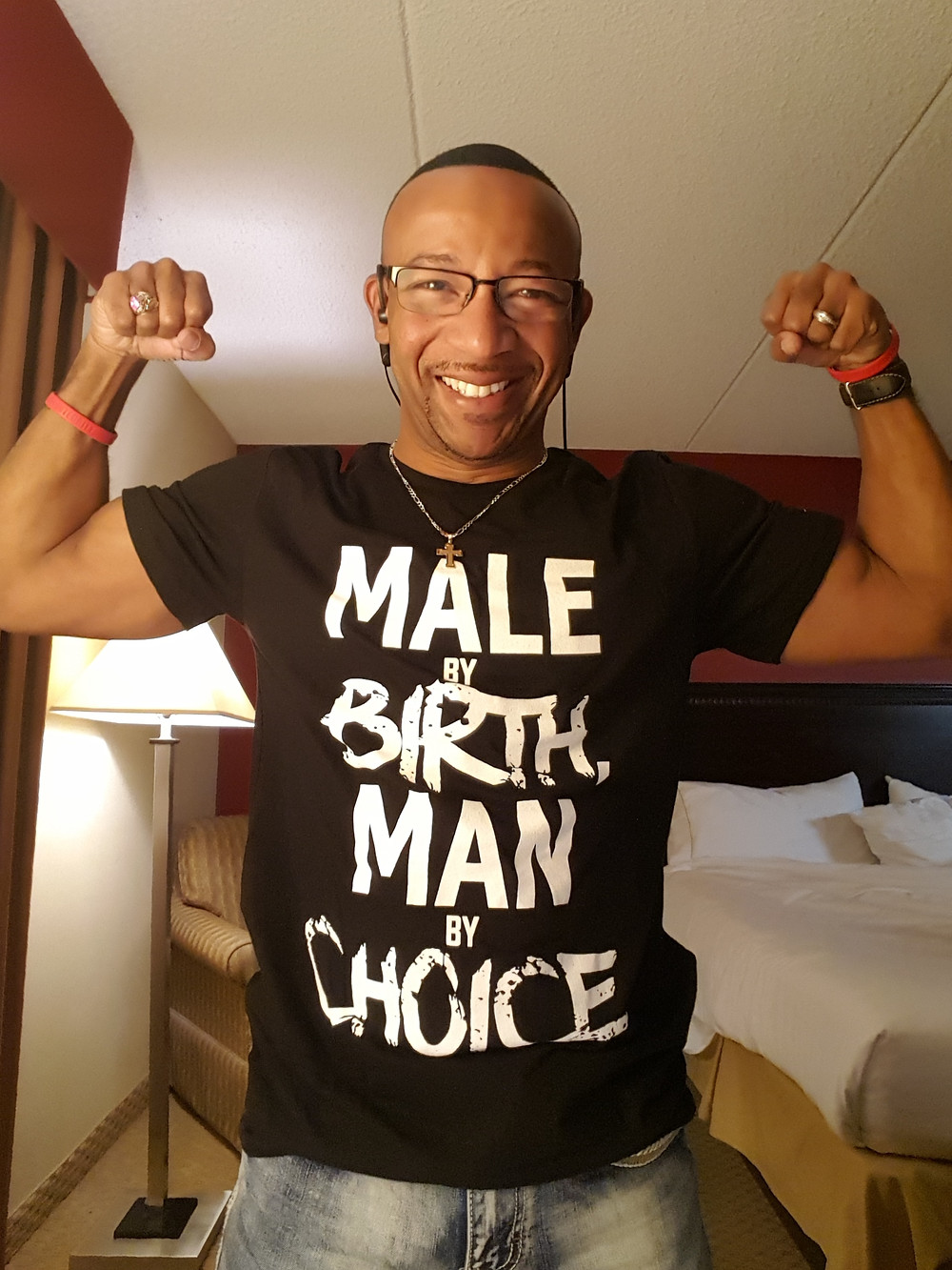 Joe Martin in man by choice t-shirt
