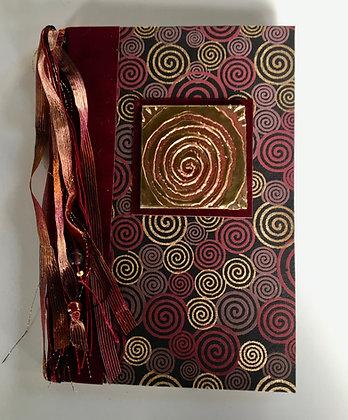 Burgundy Spirals Refillable Notebook