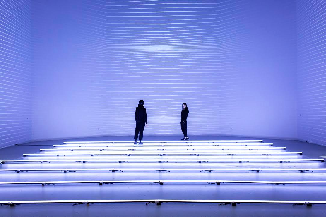 Immersive Light Exhibit: Naked Eyes by NONOTAK