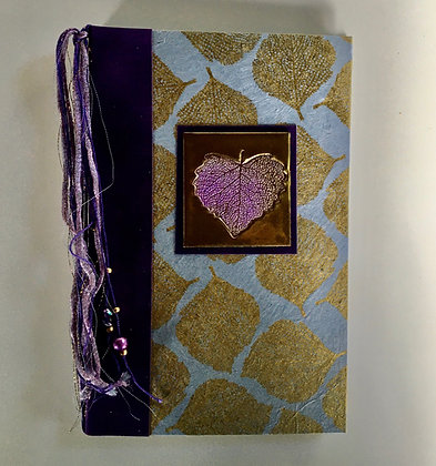 Purple Leaf Refillable Notebook