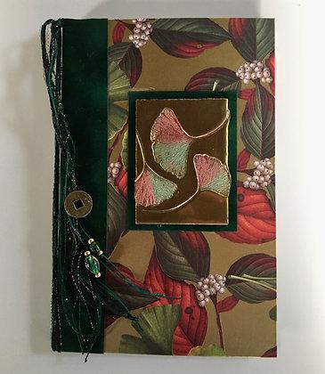 Golden Gingko Refillable Notebook