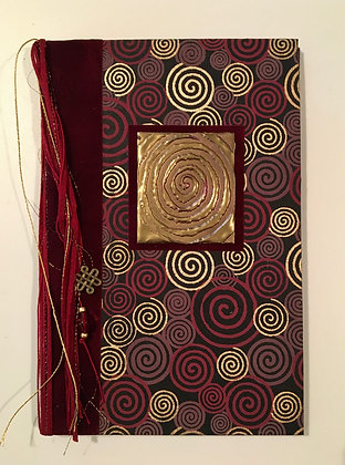 Burgundy Swirls Refillable Notebook
