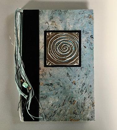 Silver Spiral Refillable Notebook