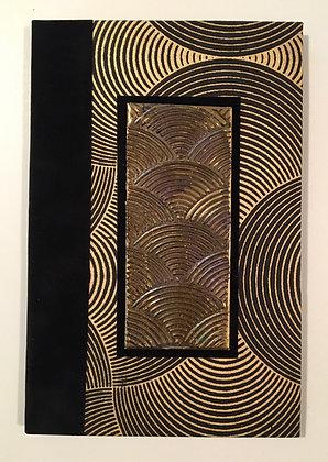 Bronze Swirls Refillable Notebook