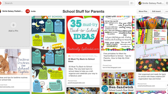 Back to School Pins on Pinterest