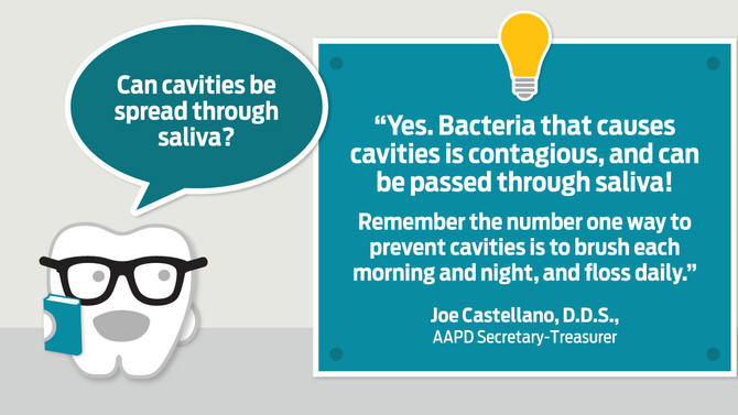 Little Teeth Truths: Can cavities be spread through saliva?