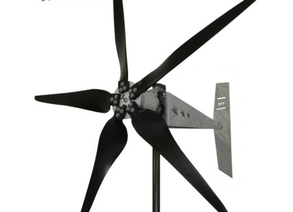 "2000 Watt 12/24V Missouri Raptor G5 79"" Diameter 5 Blade Freedom Wind Turbine"