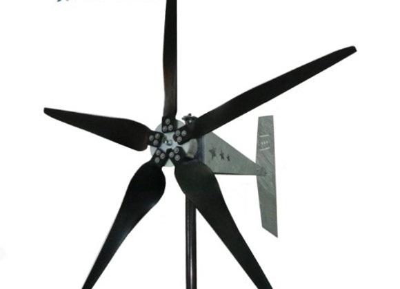 "1600 Watt 48V Missouri Raptor G5 70"" Diameter 5 Blade Freedom Wind Turbine"