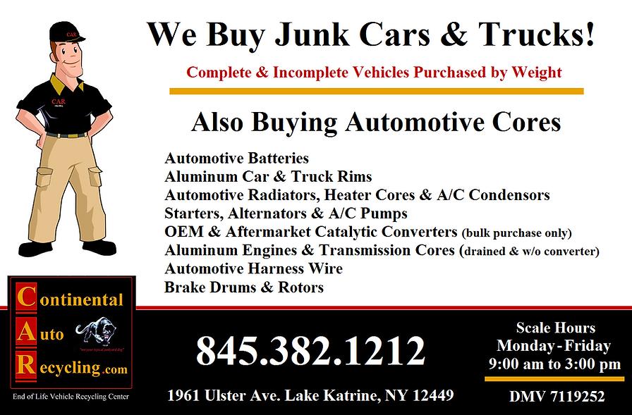 Scrap Automotive Cores,Junk cars,scrap metal