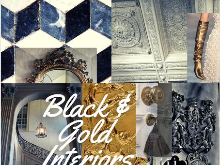 Black and Golden Interior