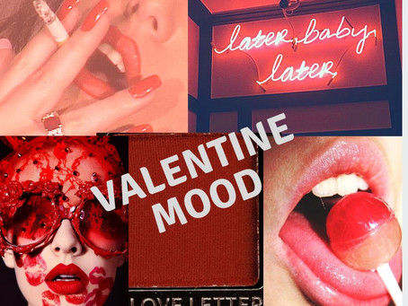 valentine mood board