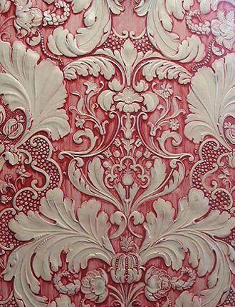 lincrusta subtractive texturing Beautiful!