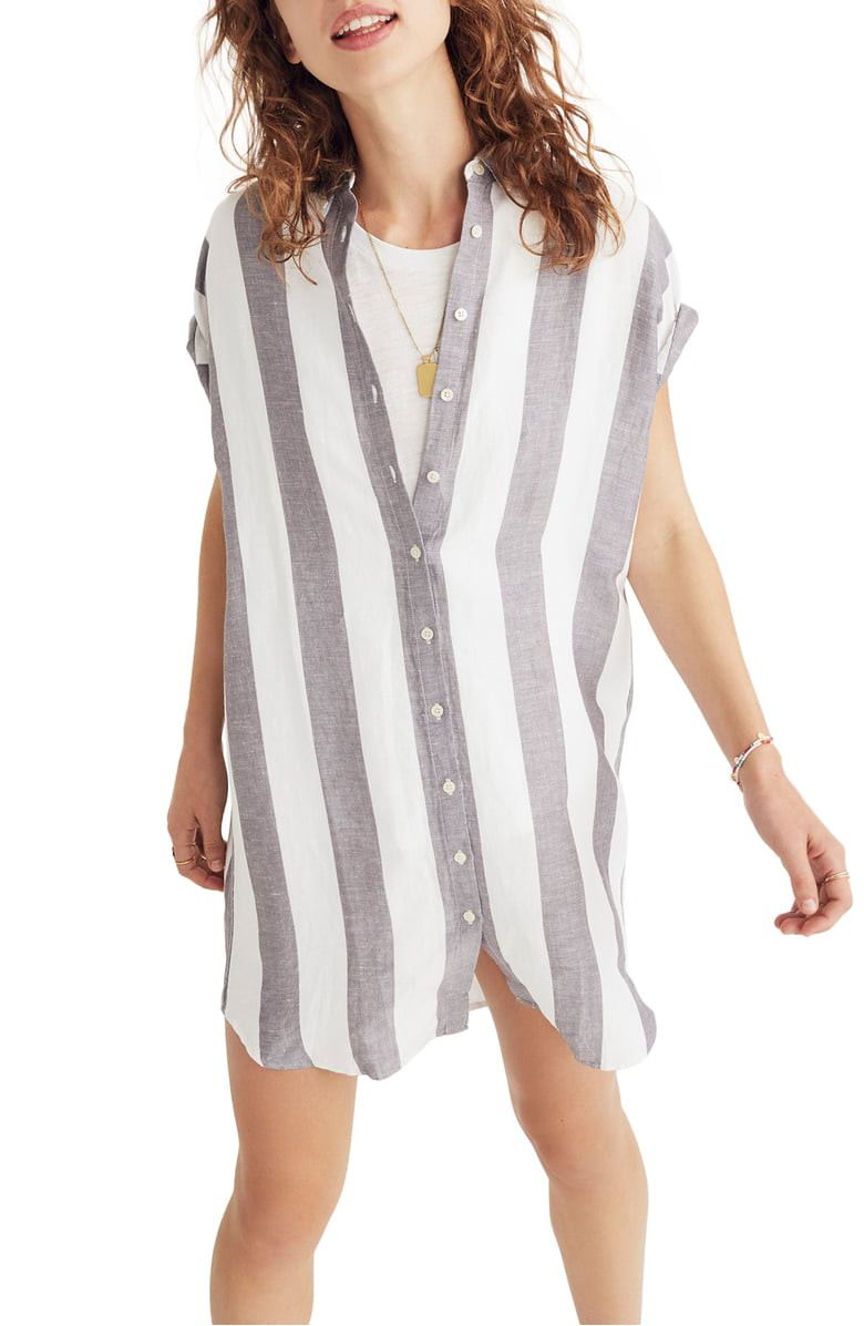 Madewell: Maywood Stripe Shirtdress