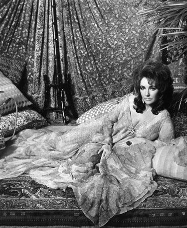 Fashion Theory: The Evolution of the Caftan - Elizabeth Taylor in a film still from X, Y