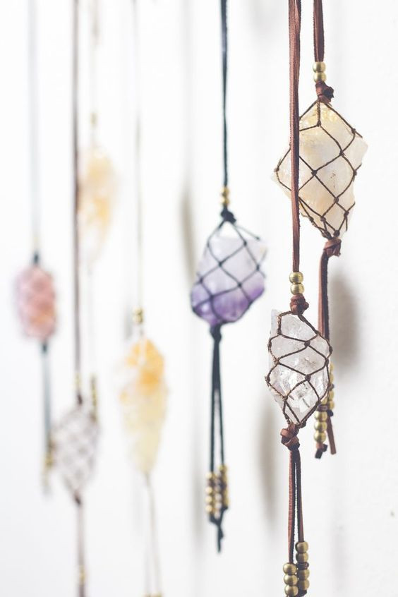 Mystical gemstones in this style are perfect for bohemian decor.