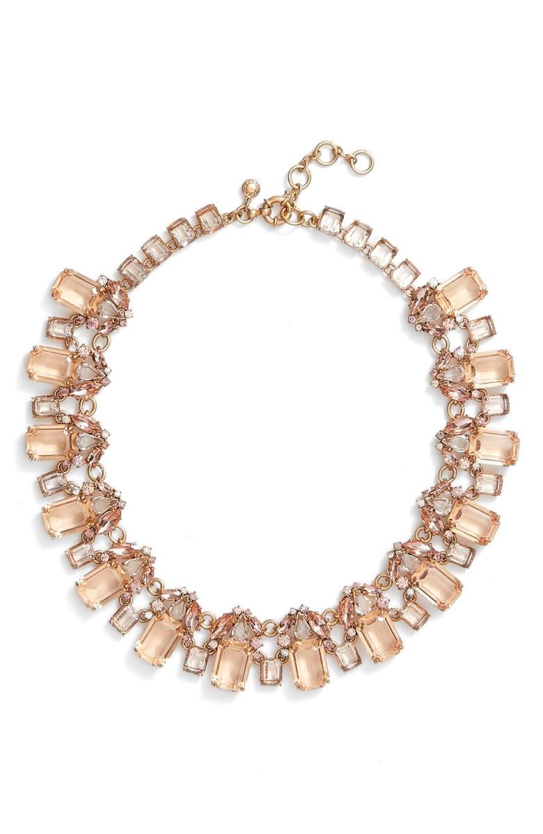 J. Crew Glass Bead Necklace,                         Main,                         color, Warm Blush