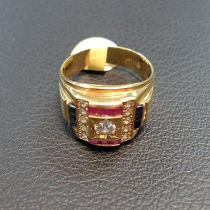 DIAMOND 0.2CT 18K GOLD RING SIZE 9