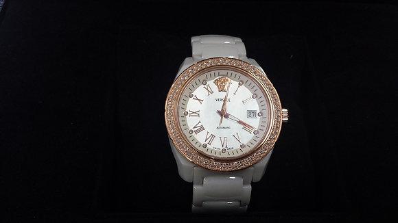Versace Automatic Diamond Marker Ceramic Watch