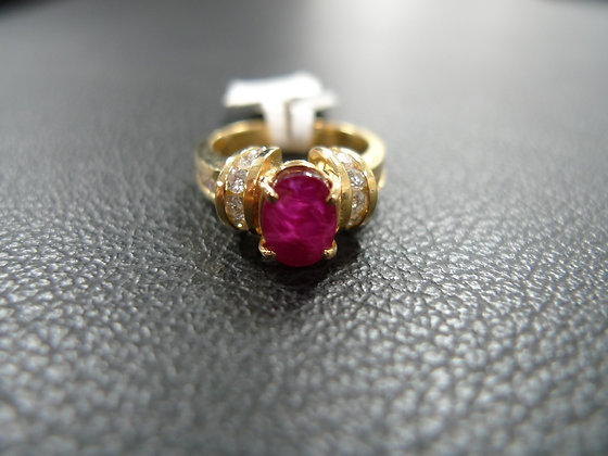 RUBY 1.73CT 14K GOLD SIZE 5.5 RING
