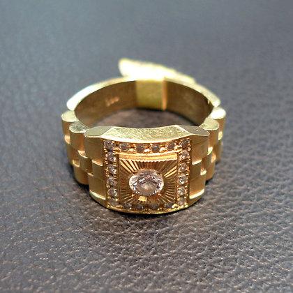 DIAMOND 0.25CT 18K GOLD RING SIZE 7