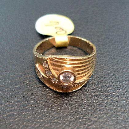 DIAMOND 0.2CT 14K GOLD RING SIZE 6.5