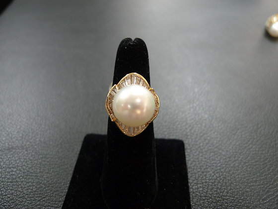 PEARL 14K GOLD RING SIZE 6