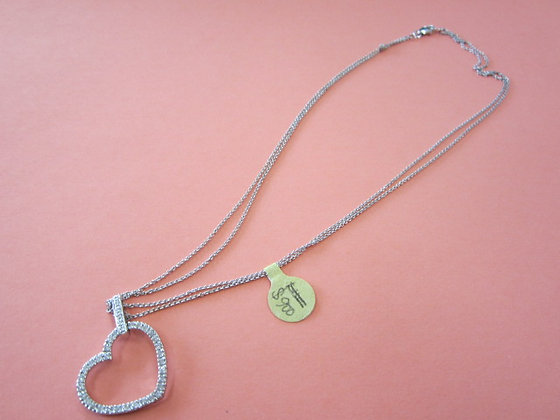 HEART SHAPE TWO LINE NECKLACE