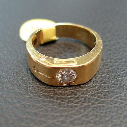 DIAMOND 0.25CT 18K GOLD RING SIZE 6