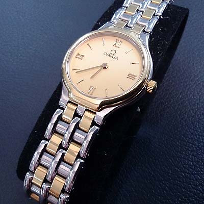 OMEGA LADY WATCH (YELLOW FACE)