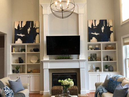Modern Transitional Living Room