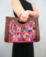 Handmade colourful handbag