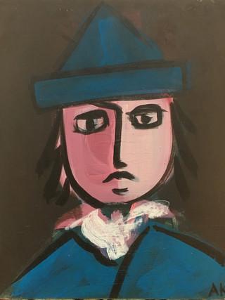 BOY IN PAPER HAT