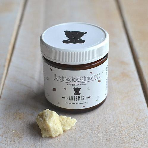 Beurre de cacao fouetté à la mauve blanche