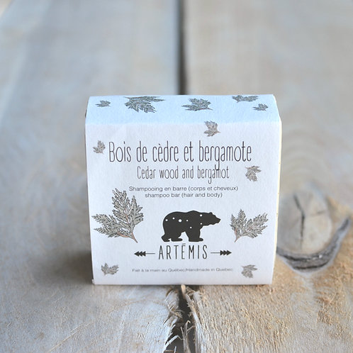 Bois de cèdre et bergamote Shampoing corps/cheveux