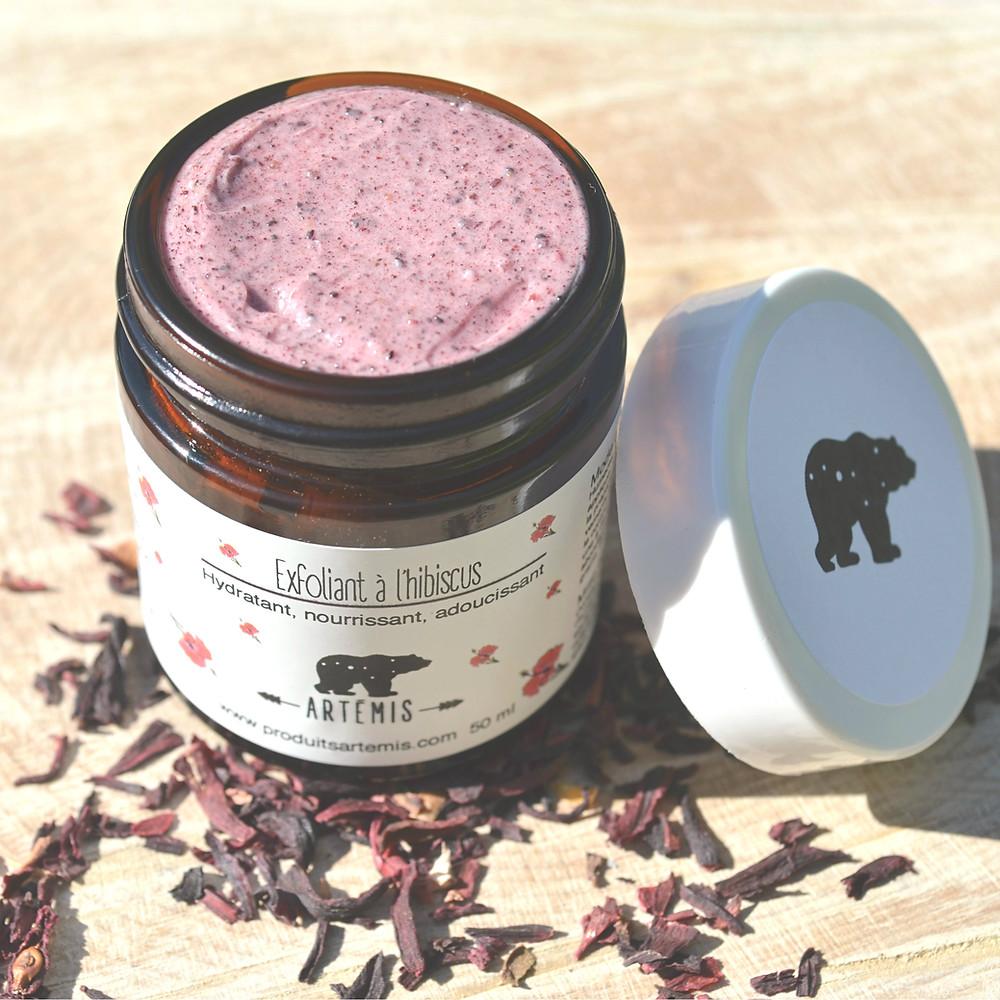 Produits Artémis exfoliant à l'hibiscus